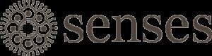 Senses logo lysebrun
