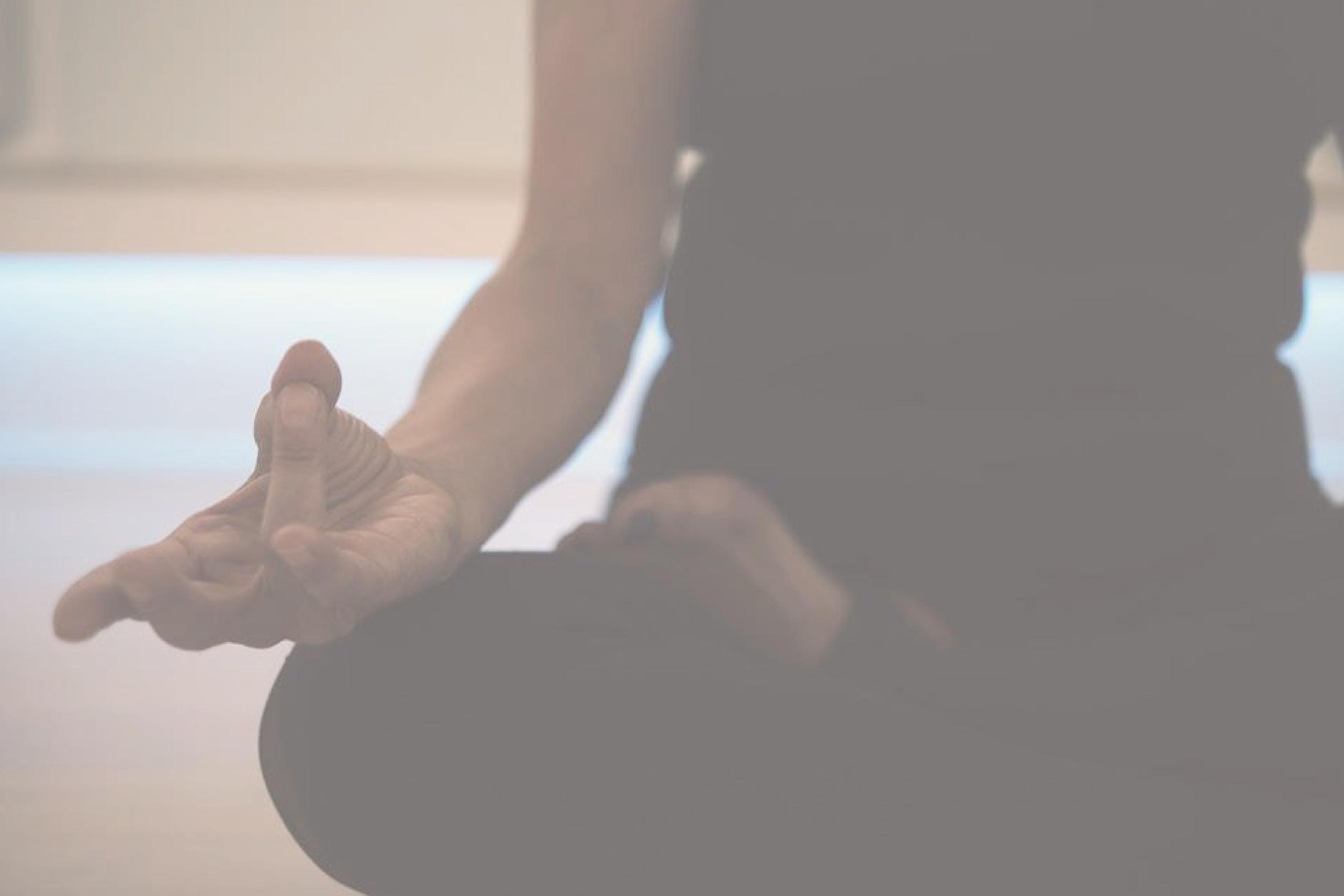På billedet ses en meditationsstilling
